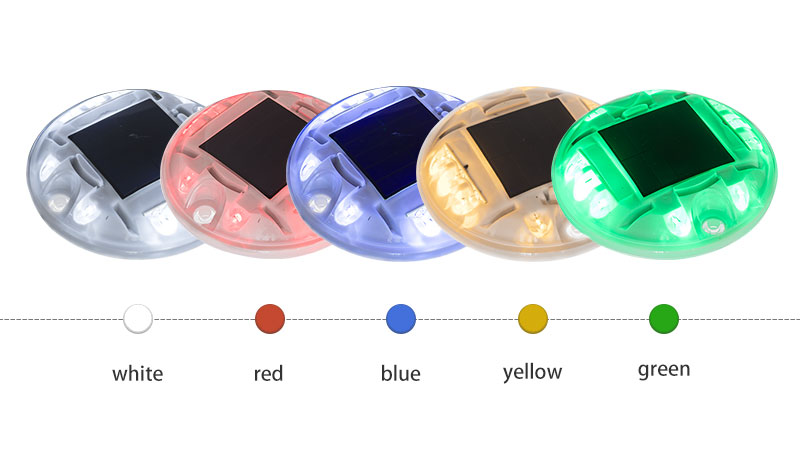 PC Round Solar Stud For Road color