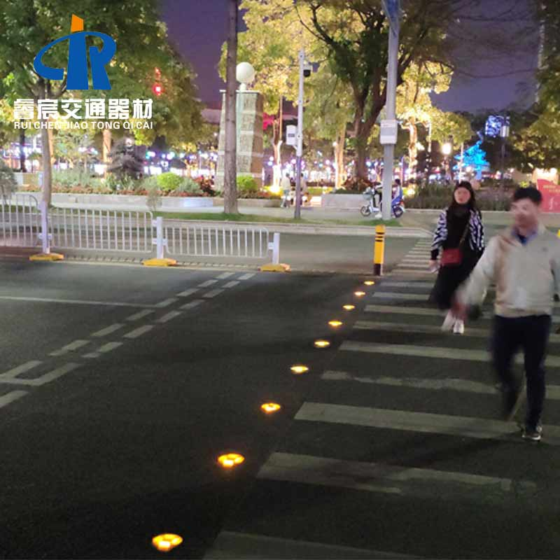 Led Solar Studs Are Used In Intelligent Crosswalk System